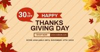 happy thanksgiving sales facebook post advert template