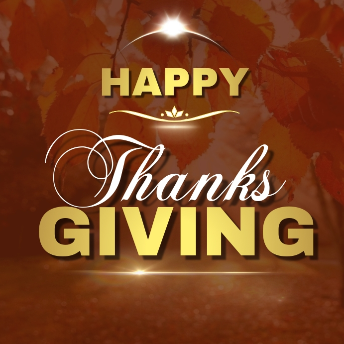 Happy Thanksgiving Social Media Ad Template Postermywall