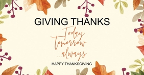 HAPPY THANKSGIVING SOCIAL MEDIA POST TEMPLATE Facebook Shared Image