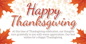 HAPPY THANKSGIVING SOCIAL MEDIA POST TEMPLATE Image partagée Facebook