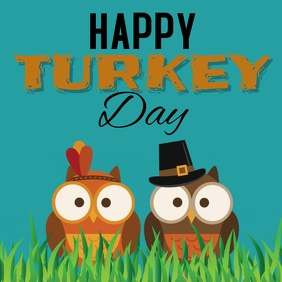 happy turkey day Instagram Post template