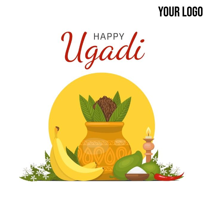 Happy Ugadi / Happy Gudi Padwa Message Instagram template