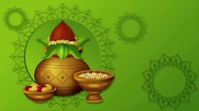 Happy Ugadi Wishes Video Pantalla Digital (16:9) template