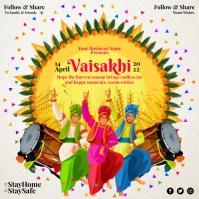 Happy Vaisakhi 2021 Template Instagram-opslag