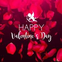 Happy Valentine's Day Amor deco Hearts Ad Square (1:1) template
