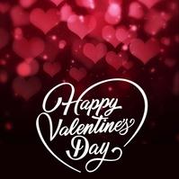 happy valentine's day card post TEMPLATE Persegi (1:1)