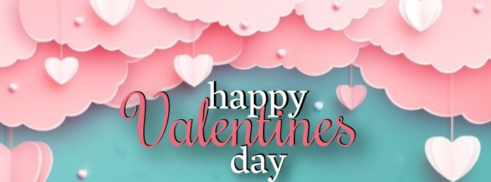 Happy Valentine's day Cover Photo Template Facebook-coverfoto