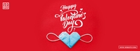 Happy Valentine's Day Facebook-omslagfoto template