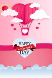 Happy Valentine's Day Plakat template