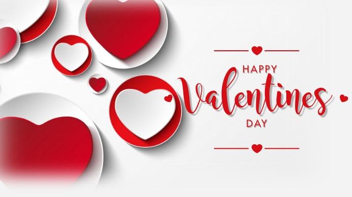 Happy Valentine's Day Digitalt display (16:9) template
