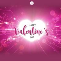 Happy Valentine's Day โพสต์บน Instagram template