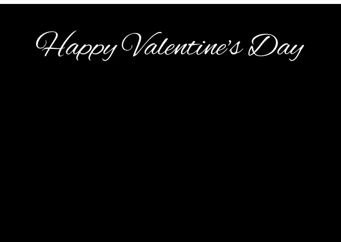 Happy Valentine's Day Postkort template
