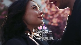Happy valentine's Day Facebook Cover Video (16:9) template