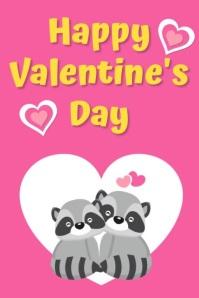 Happy Valentine's Day Плакат template