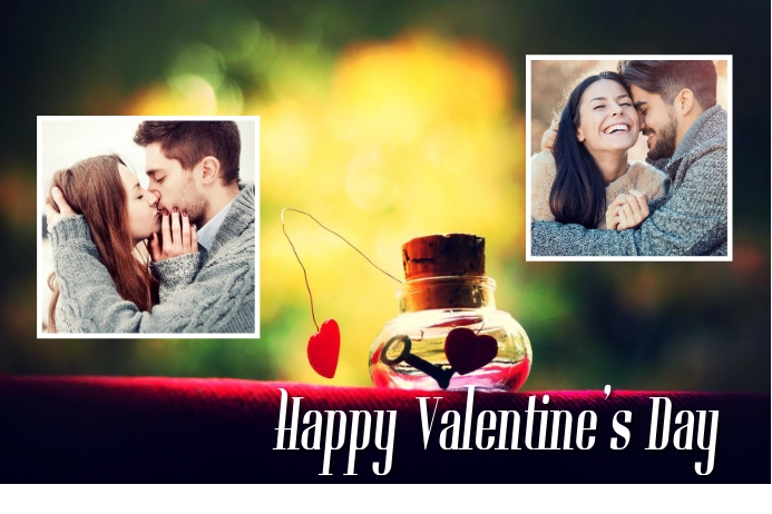 Happy Valentine's Day Póster template