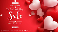 Happy Valentine's Day Digitalt display (16:9) template