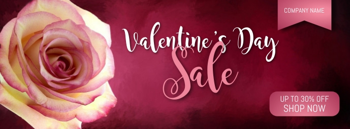 Happy Valentine's Day Facebook Cover template