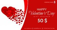 Happy valentine's day gift voucher template d delt Facebook-billede