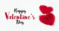 Happy Valentine's Day Greeting card template auf Facebook geteiltes Bild