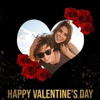 happy valentine's day instagram post template