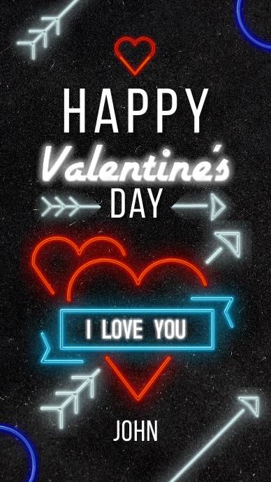 Happy Valentine's Day Instagram Story template