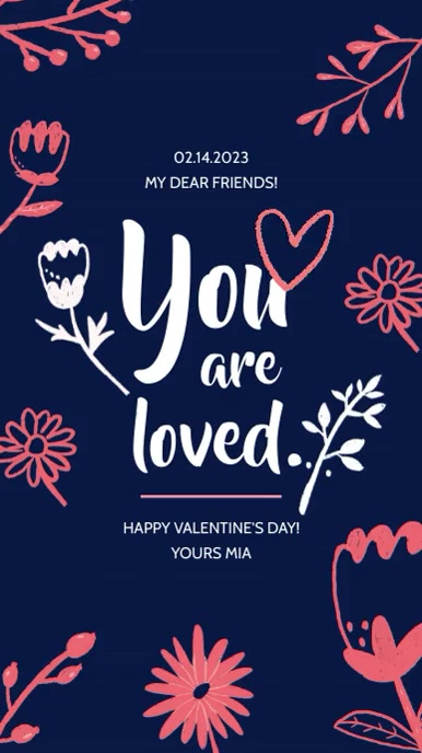 Happy Valentine's Day Instagram story. Indaba yaku-Instagram template