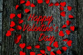 Happy Valentine's Day Label