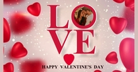 HAPPY VALENTINE'S DAY MESSAGE CARD Template Imagem partilhada do Facebook