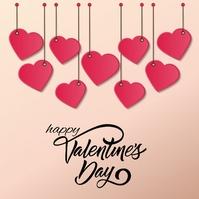 HAPPY VALENTINE'S DAY MESSAGE CARD Template Publicação no Instagram