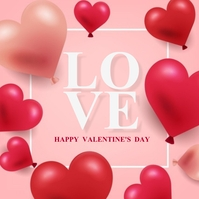 HAPPY VALENTINE'S DAY MESSAGE CARD Template Pos Instagram