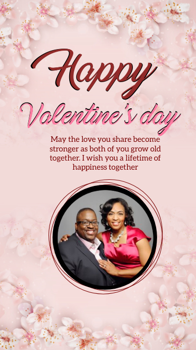 HAPPY VALENTINE'S DAY ONLINE GREETING templat Instagram Story template