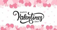 HAPPY VALENTINE'S DAY ONLINE GREETING templat Gedeelde afbeelding op Facebook template