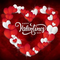 HAPPY VALENTINE'S DAY ONLINE GREETING templat Квадрат (1 : 1) template