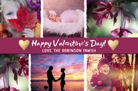 Happy Valentine's Day Photo Collage Card Etichetta template