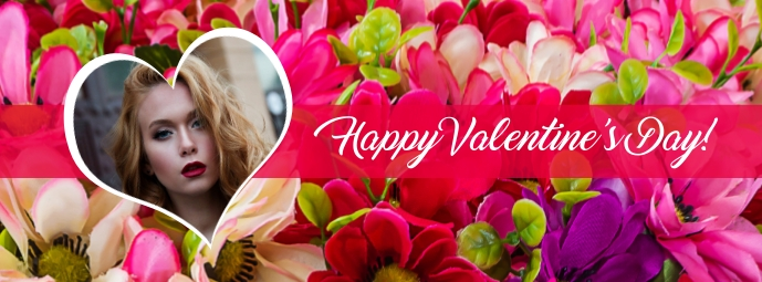 Happy Valentine's Day Photo Facebook Cover Facebook-coverfoto template