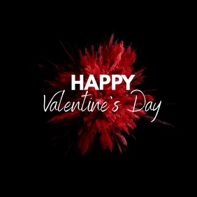 Happy Valentine's Day Red Color Explosion Ad