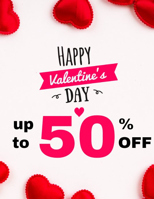 Happy valentine's day sales up to 50% off sal