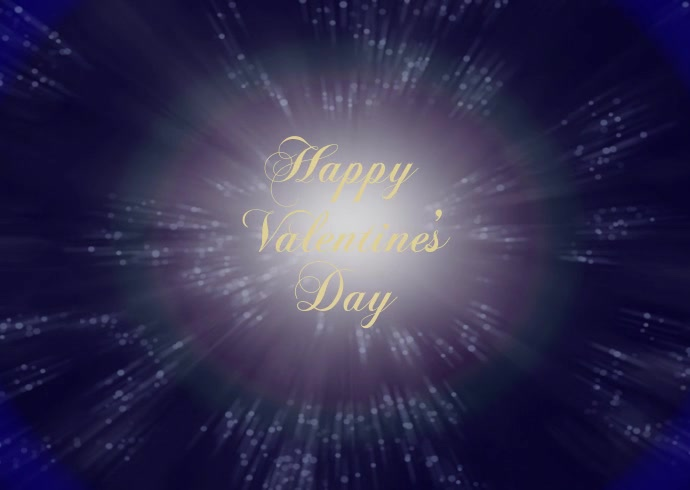 Happy Valentine's day video Amor Heart Wish Postal template