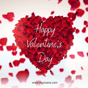 Happy Valentine's Day Video Template Сообщение Instagram
