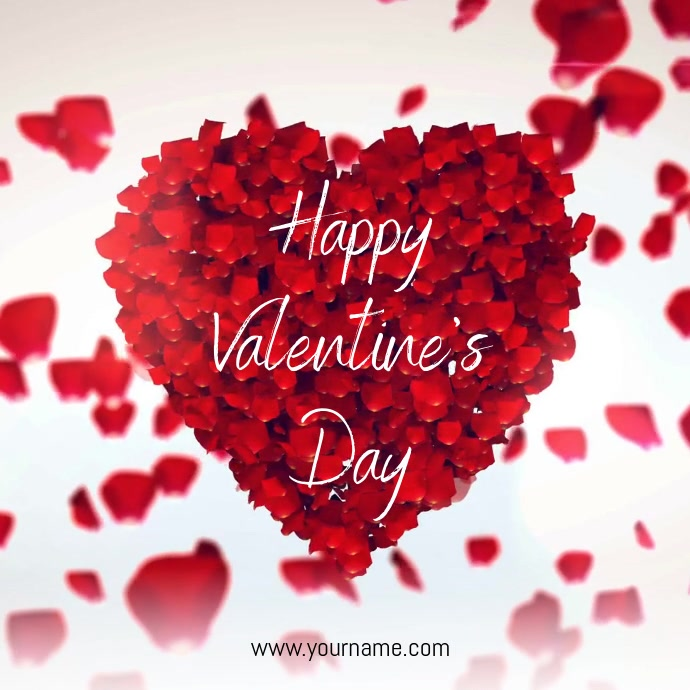 Happy Valentine's Day Video Template Instagram 帖子