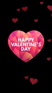 Happy Valentine's Day Video Template Story ad História do Instagram
