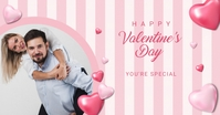 Happy Valentine's Day wife Facebook Shared Image template