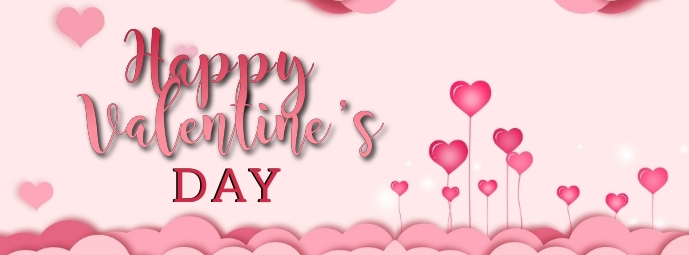 happy valentine's day WISHES BANNER Template Facebook-coverfoto