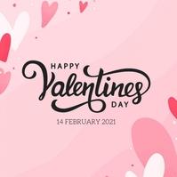 happy valentine's day wishes design template Instagram Post