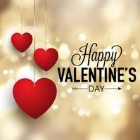 happy valentine's day wishes design template Instagram-opslag