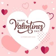 happy valentine's day wishes design template Wpis na Instagrama