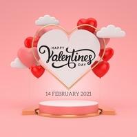 happy valentine's day wishes design template Publicação no Instagram