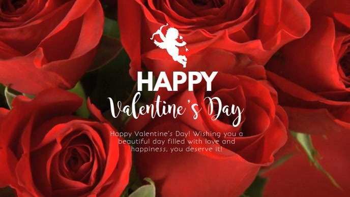 Happy Valentine's Day Wishes Greeting Roses