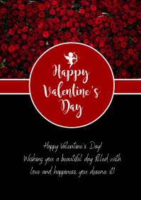 Happy Valentine's Day Wishes Greetings Roses