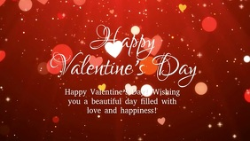 Happy Valentine's day Wishes Message Friends Facebook Cover Video (16:9) template
